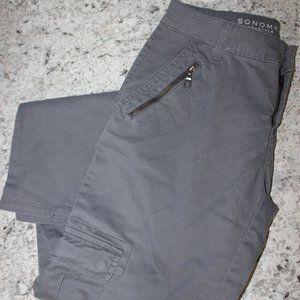 Sonoma Slim Straight Leg Size 4 Grey Pants